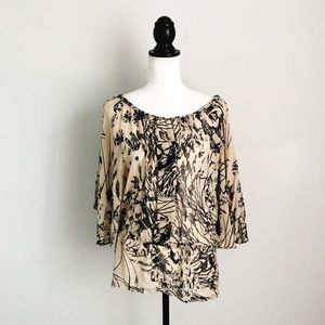 Anthro Yoana Baraschi Floral Silk Sheer Blouse